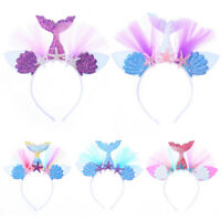 Mermaid Kids Hair Band Princess Rainbow Starfish Girl Shining Fashion Headband