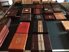 24 Vintage & Collectible Two Dozen CIGAR BOXES Various Int'l Labels-Sizes-Colors