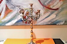Handmade Traditional 5-Arm Candelabra Exotic Crafting Copper Nickel  H:52cm NEW