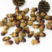 Pack of 10 Artificial Fake Acorn Oak Nut Miniature Ornament Home Decoration 3cm