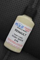 RENAULT  D16 IVORY PAINT TOUCH UP KIT 30ML SCRATCH CHIP CAPTUR CLIO