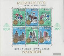 Rwanda Blok 16 (compleet Kwestie) postfris MNH 1968 Spelen Zomer