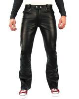 Bockle® Saddle Lederjeans Herren Lederhose Leder Jeans neu Biker schwarz