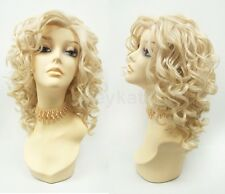 """Pre-Trimmed Lace Front Blonde Curly Heat Resistant Wig Large Spiral Curls 13"""""""