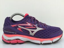 Mizuno Wave Inspire 12 Purple Mesh Sports Trainers J1GD164403 Women UK 6 Eur 39