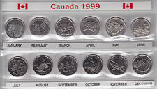 1999 Canada Commemorative 25-cent Set Small Sleeve Holder with Coins