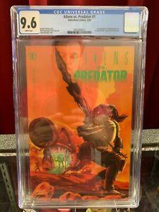 Alien vs. Predator  #1 CGC 9.6, 1990, KEY Dark Horse comic, 1st Vs and Noguchi!
