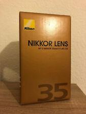 Lente Nikon AF-S Nikkor 35 mm 1:1.8g ed nuevo embalaje original