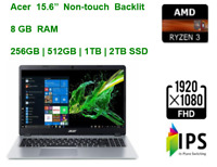 "2020 Acer Aspire 5 15.6"" FHD Laptop Ryzen 3 3200U, 8GB RAM& upto 2TB SSD"