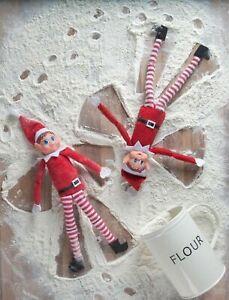 "Christmas Naughty Elves Behavin' Badly 12"" Prop Red Elf Boy On The Shelf"
