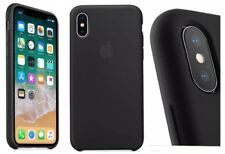 BLACK Apple Silicone Original Case Cover For iPhone X Super Slim Great Handling