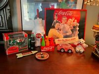 Coca-Cola Collectibles Lot of 9 Items Coca Cola Crayons Vintage Ornaments Bundle