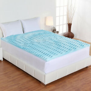 Orthopedic Mattress Topper Gel Pad Bed Cover 2 inch 5 Zone Cal King for Bedroom
