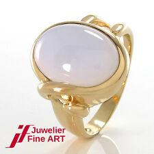 RING mit Chalzedon ca. 15,0 ct - 14K/585 Gelbgold - 10,5 g - Größe 69