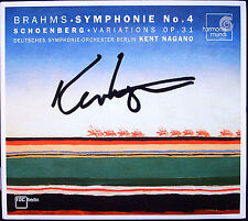 Kent NAGANO Signiert BRAHMS Symphony No.4 SCHOENBERG Variations for Orchestra CD