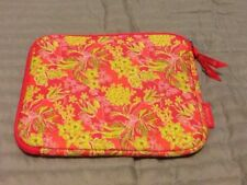Lilly Pulitzer iPad Tablet Soft Case Bag Pink Green Floral Neoprene Pouch Sleeve