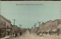 Perry NY Main St. South c1910 Postcard