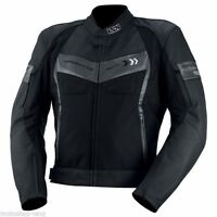 IXS Rockford Leather Sport Mens Motorcycle Jacket - Black Gunmetal