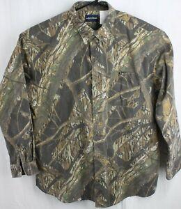 Mossy Oak Shadow Branch Men's XXL Camo Button Front Hunting Shirt  #KC793