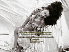 Vanessa del Rio Memorabilia 1975 Photo 8x10 Silver BED Signed AFT/Buy w/COA