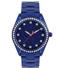 Betsey Johnson  Sparkle Analog Bracelet Watch - Metallic BLUE BJ00190-82