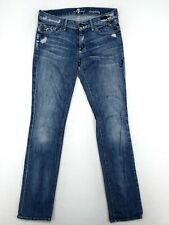 7 For All Mankind Womens Straight Leg Jeans Size 28 Distressed Comfort Stretch