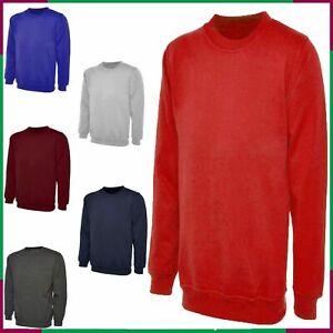 Mens & Woman Plain Classic Raglan Sweatshirt  Jumper Plain Top Pullover