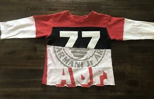 ARMANI BOYS TEE 12 MONTHS USED COLOUR BLEED & STAIN