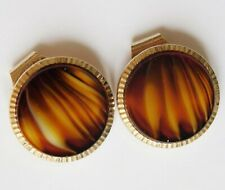 Unusual Stratton Toppers boxed pair button covers clips vintage 1950s men ladies