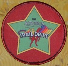 ~ Atari Video Game Vintage 80's Activision Patch -- Stampede Trail Drive ~