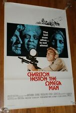 THE OMEGA MAN 1971 One Sheet Movie Poster U.S. Original CHARLTON HESTON 27x41