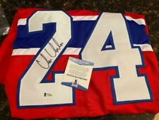 CHRIS CHELIOS MONTREAL CANADIENS AUTOGRAPHED JERSEY COA BECKETT HOF SIGNED