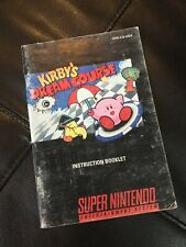 KIRBY DREAM COURSE Authentic Instruction Manual Super Nintendo SNES Free Ship
