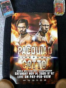 Pacquiao vs Cotto Nov 14th 2009 17 X 11 Fight Poster