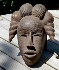 Old Encrusted Ibibio Maiden Spirit Mask, Beautiful Face - Nigeria