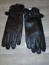 COMBAT MK11 BLACK LEATHER GLOVES SIZE 11 WITH WRIST STRAPS BRITISH ARMY NEW