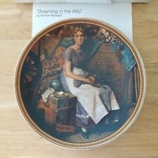 Dreaming in the Attic Norman Rockwell Rediscovered Women Collectors Plate