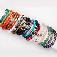Amazing Natural Stones Bracelets Energy Healing Crystal Amulet Women Men 10pcs