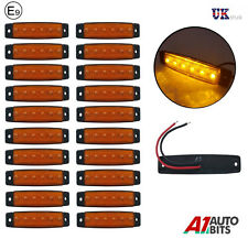 20x 12v 6 LED Amarillo Delantero Lateral Marcador luces para remolque camión