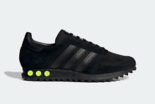 Adidas Originals LA Los Angeles Trainers in Black and Yellow Retro Style Shoes
