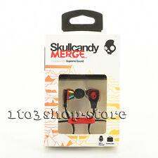 Skullcandy Merge BUDS 2 In-Ear Headphones Earbuds w/Mic Remote Headset Black/Red