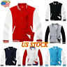 US Men Fashion Varsity Jacket College University Letterman Baseball Coat Outfits