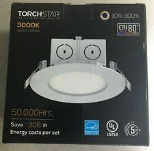 TORCHSTAR 4'' Junction Box LED Downlight, CRI 80+, 3000K