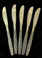 5 Vintage PAGENNT Stainless Steel Knives HARVEST Pattern Mid Century Modern