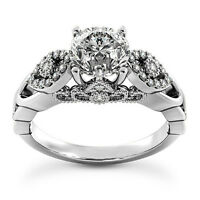 Solitaire 1.40 Carat SI1/G Round Cut Diamond Engagement Ring White Gold