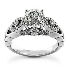 1.27 CT ROUND CUT DIAMOND D/SI2 ENGAGEMENT RING 14K WHITE GOLD