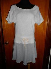 Victoria's Secret Gray Fleece Cover-Up Flared Skater Dress Drop Waist S/P S New
