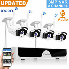 Jooan 1080P WIFI Wireless Pair Security Camera System Outdoor 8CH NVR Home CCTV