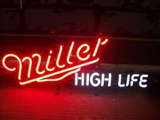 "New MILLER HIGH LIFE Man Cave Real Glass Neon Sign 20""x14"" Beer Lamp Light"