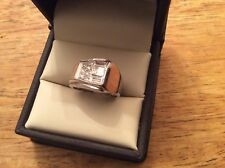 Vintage Men's Emerald Cut Diamond Pinky Ring